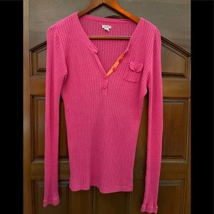 American Eagle pink and orange sweater